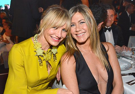 Jennifer Aniston + Cameron Diaz at the LACMA Event, October 2012