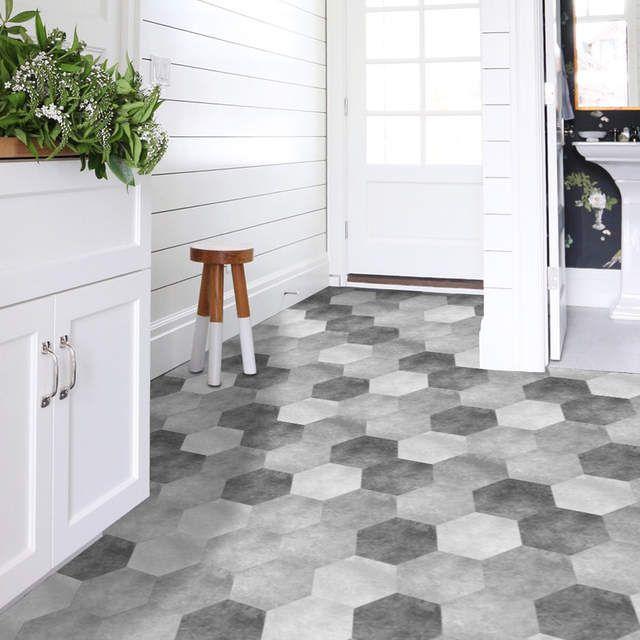 Online Shop Funlife Waterproof Bathroom Floor Stickers Peel Stick Self Adhesive Floor Tiles In 2020 Adhesive Floor Tiles Self Adhesive Floor Tiles Bathroom Floor Tiles