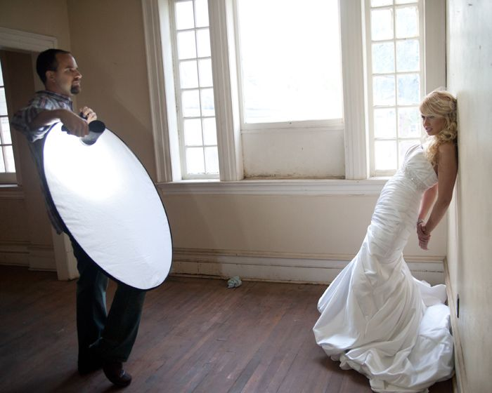 handheld light pointed at reflector... why didn't I think of that!?