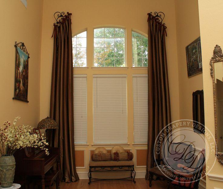 131 best drapery hardware images on pinterest windows for Custom window designs