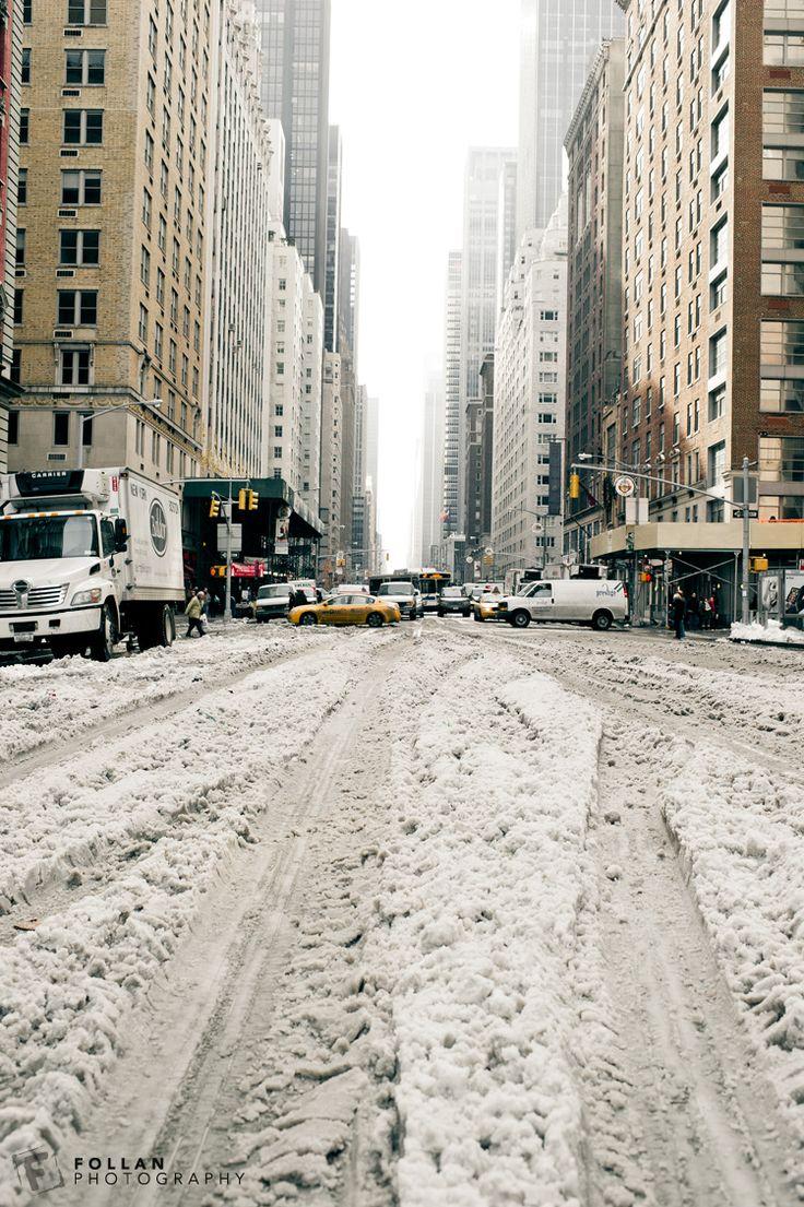 New York City during snow storm Dec 2010