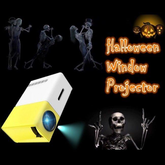 Halloween Holiday Window-Effects mini Spooky video WindowFX Projector