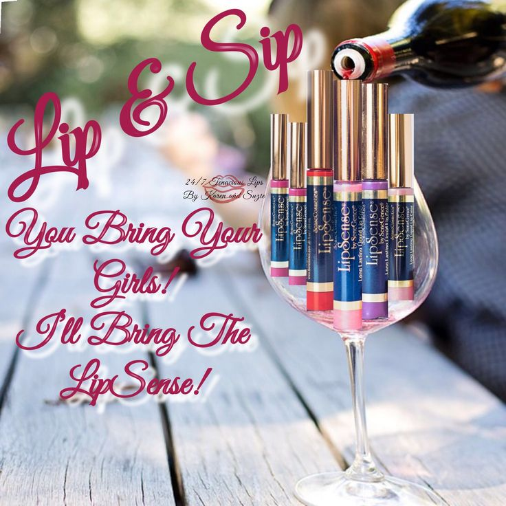 LipSense Lip & Sip Graphic Distributor ID 250632 24/7 Tenacious Lips by Karen and Suzie