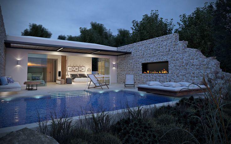 Emerald Villa Suites luxury modern design villa for 2 or 6 people in Greece near The Peligoni Club in North Zakynthos