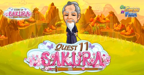 Story Of Sakura Quest #11  Inizio previsto per il 23/05/2016 alle ore 13:30 circa Scadenza il 30/05/2016 alle ore 12:30 circa    Mancano 9 giorni 2 ore 20 minuti 40 secondi alla scadenza della quest!    Quest #1  Fatti mandare dai tuoi vicini 7 Bamboo Reeds; con gli sconti SmartQuest dovrebbero servirne un massimo di 1 (clicca sul tasto Ask Friends per pubblicare la richiesta sulla tua bacheca).  Raccogli 80 zolle di Mushroom Statues da 10 min  Mushroom Statues da 10 min (locked in Story Of…