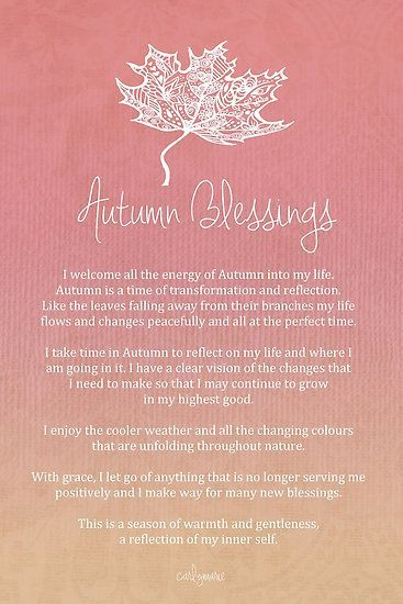 Healthy Lifestyle U0026 Goals : Affirmation Autumn Blessings By CarlyMarie