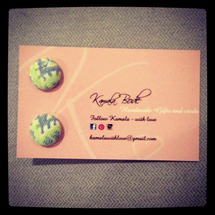 Handmade fabric button earrings $8