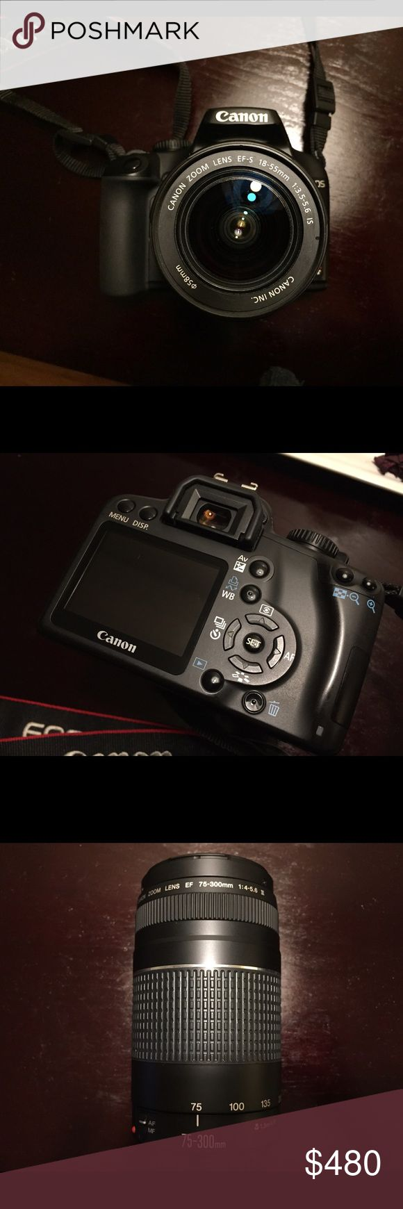 Canon Rebel XS eos 1000d + extra lens 🎥 Canon Rebel XS eos 1000d Camera • includes additional zoom lens • flash • gently used • excellent condition • includes bag for camera • includes shoulder strap • includes manual Canon Other