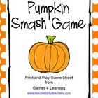 Pumpkin Smash Game is a quick simple game from Games 4 Learning.   In this pumpkin themed game, children cross off 1 pumpkin, 2 pumpkins, 3 pumpkin...