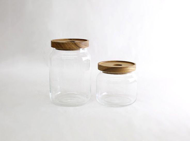 Mouth Blown Glass Jars
