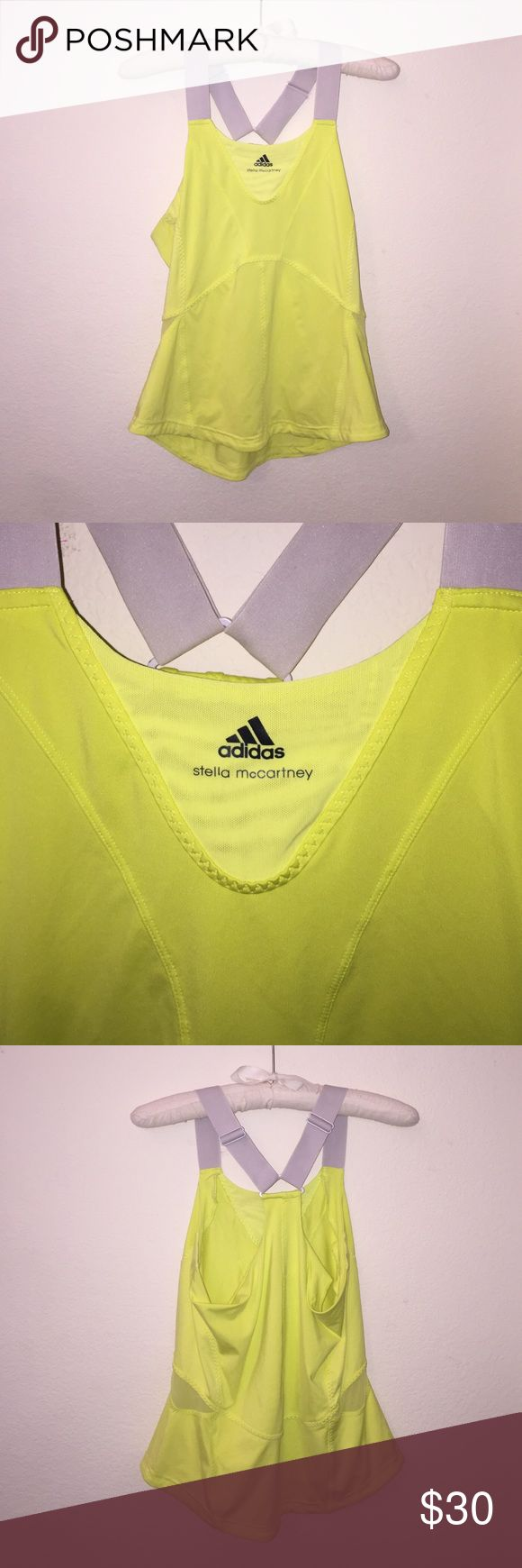 Stella for Adidas Tank Neon yellow Stella McCartney tank! Size says 44 but fits as M. In excellent condition! Perfect workout Tank! Feel free to ask any questions! Adidas by Stella McCartney Tops Tank Tops