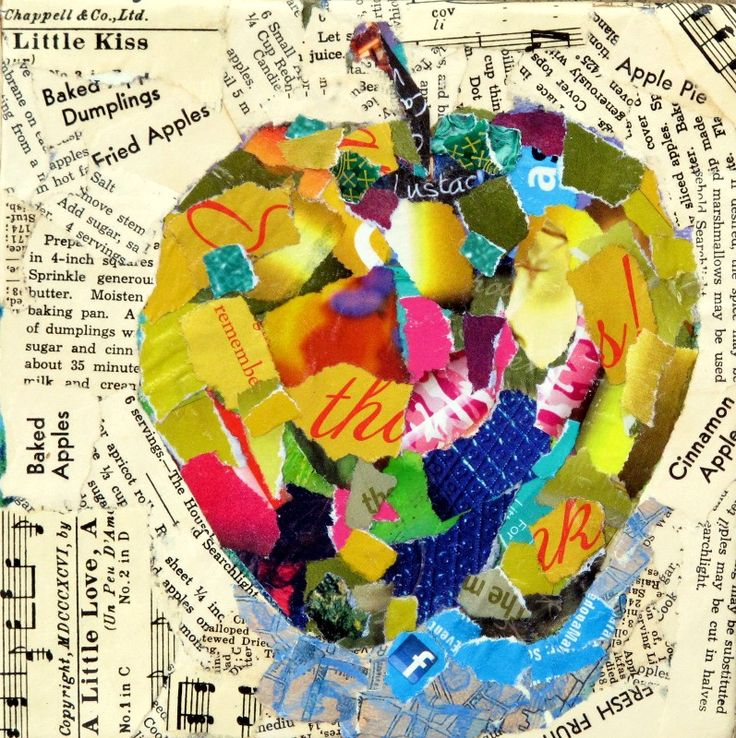 Paper Collage | Nancy Standlee Fine Art: Mixed Media Torn Paper Collage Painting ...