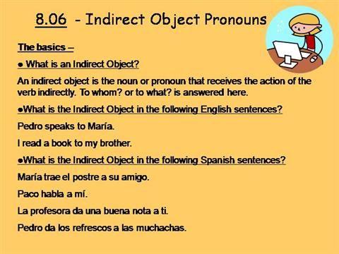 Indirect Object Pronouns (IOP) by szeron via authorSTREAM ...