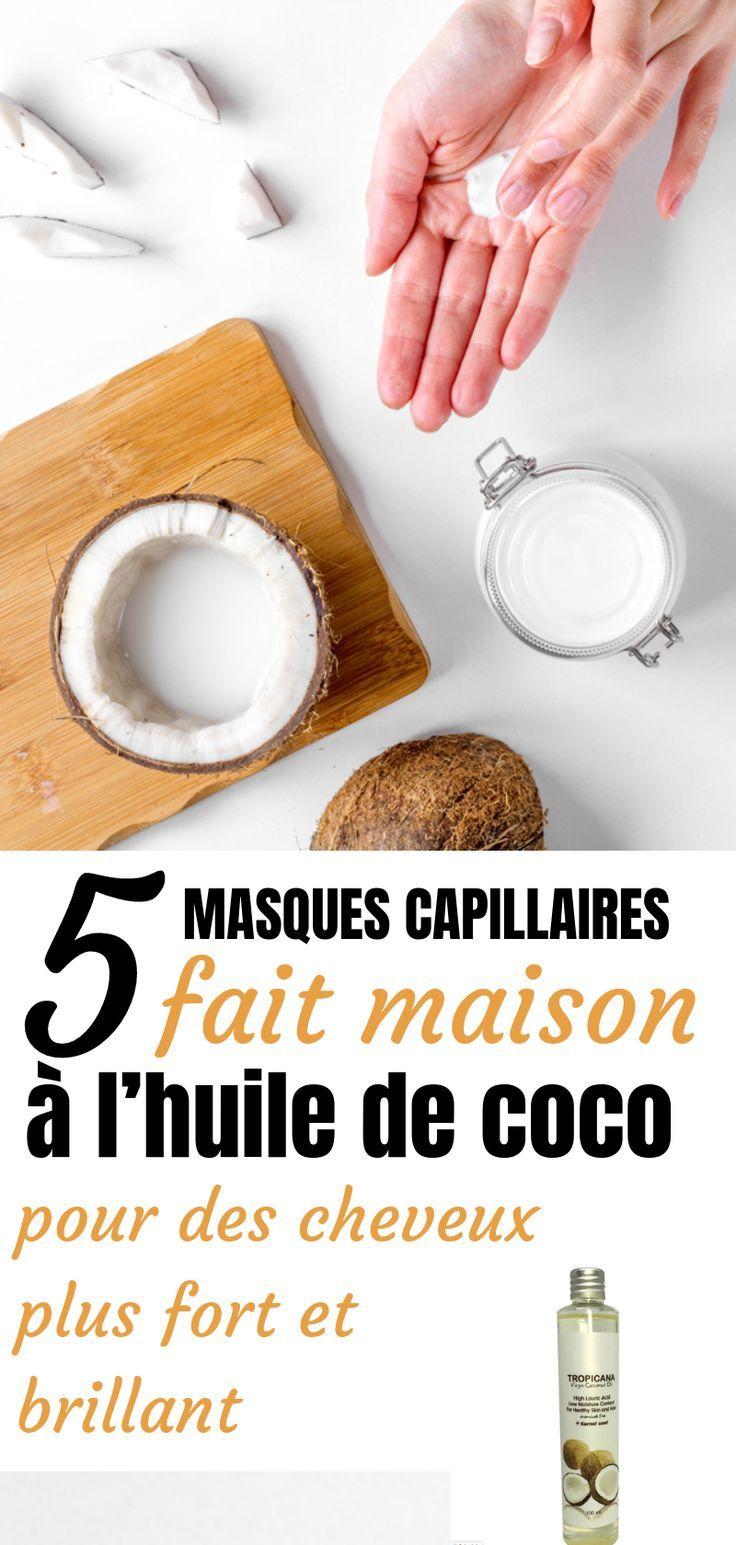 5 masques capillaires fait maison à l'huile de coco pour des cheveux plus fort et brillant ...