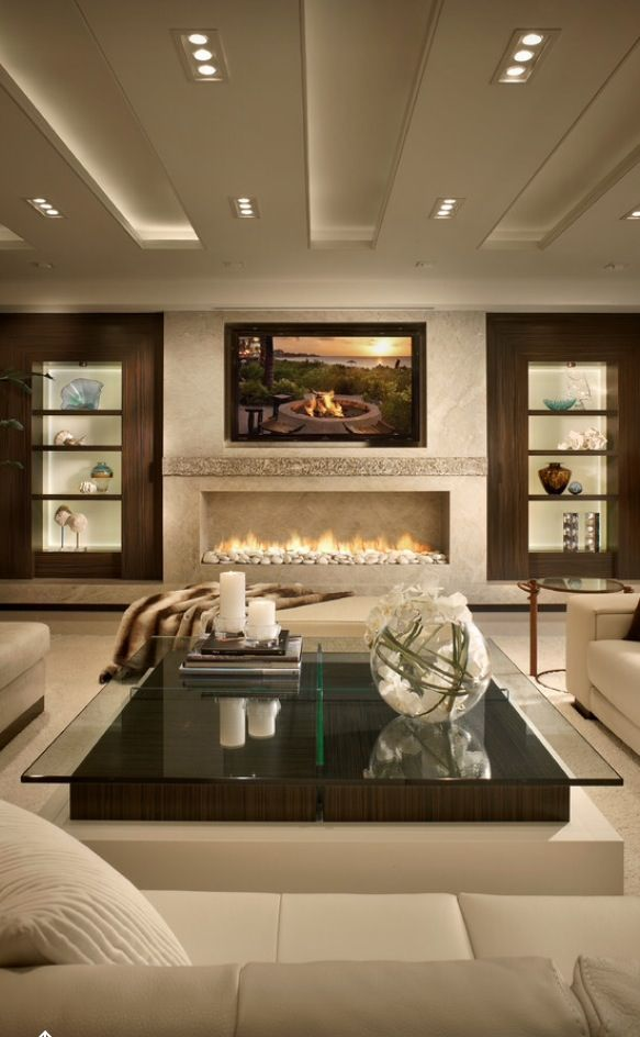 25 best ideas about modern living rooms on pinterest - Modern fireplace living room design ...