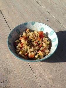 Rijst met groenten en pangafilet http://www.smulkids.nl/baby-hapje-rijst-met-pangafilet-en-groenten/