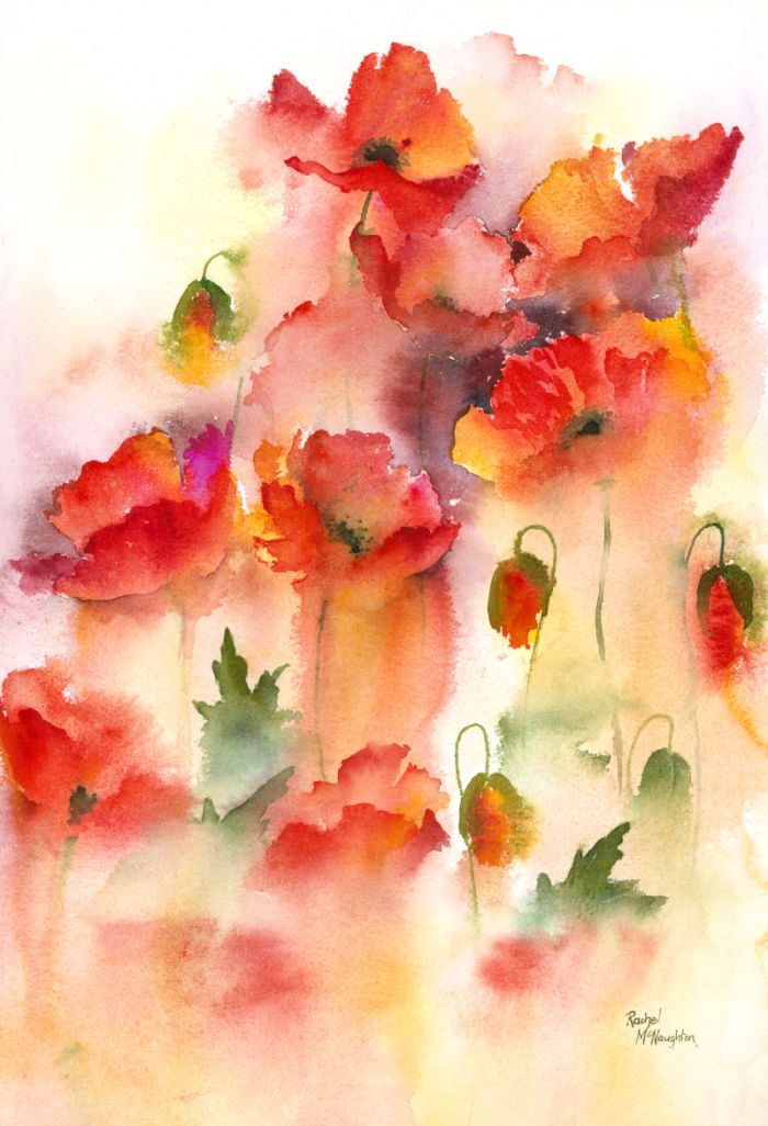 Rachel Mcnaughton - 346 - Field Poppies.jpg - Love the running effect.  Nice blends