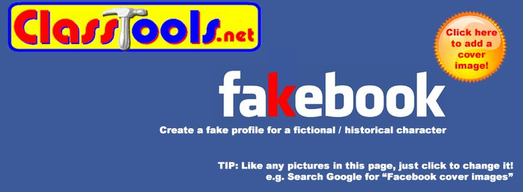 Fakebook template allows students to create fictional & historical character's profile pages--complete with profile image, background image, posts, and more. Site includes a 90-second tutorial.