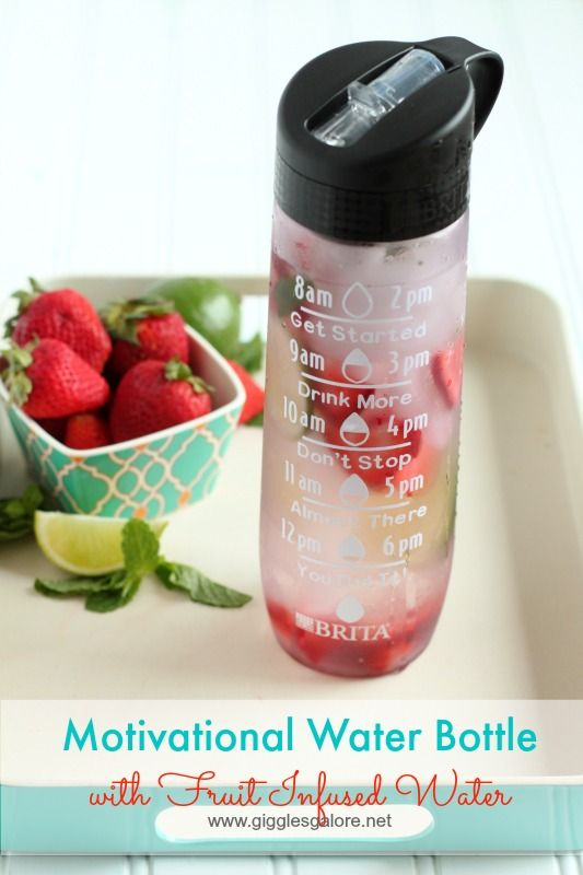 DIY Motivational Water Bottle with Fruit Infused Water www.gigglesgalore.net #britaonthego #ad @Britausa @Walmart