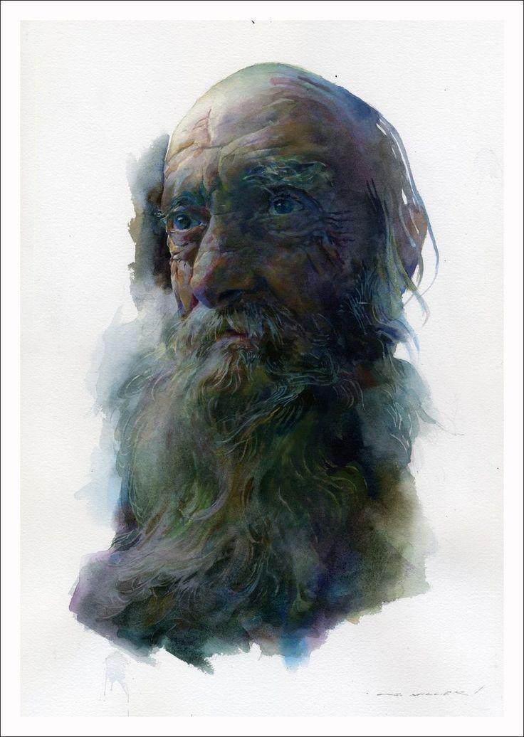 Extrêmement 213 best Watercolor - Portraits images on Pinterest | Watercolor  BR41