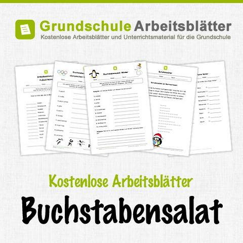 Kostenlose Arbeitsblätter und Unterrichtsmaterial für den Deutsch-Unterricht zum Thema Buchstabensalat in der Grundschule.