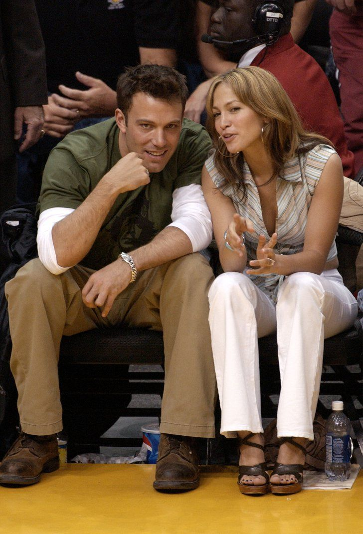 Pin for Later: These Photos of Jennifer Lopez and Ben Affleck Will Take You Way Back  The two were super flirty at an LA Lakers game in May 2003.