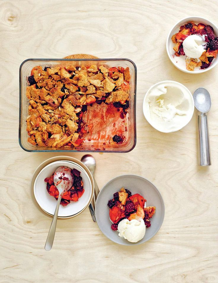 Blackberry, apple & maple brown Betty from Grains | Cooked