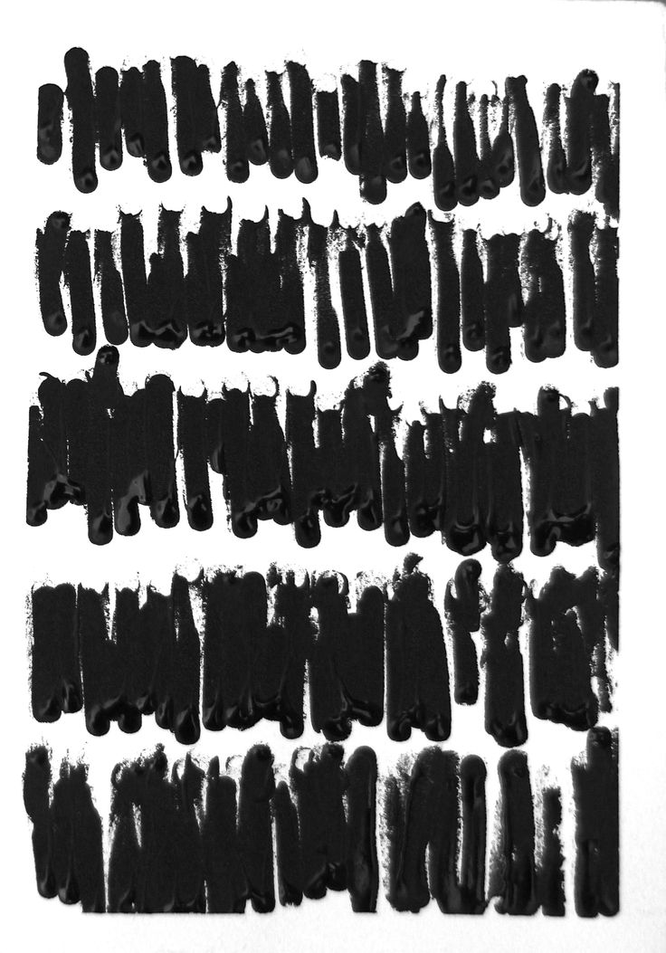 Monochrome Mark Making - black & white pattern // Mary Jo Hoffman