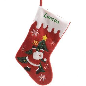 Découvrez cette Chaussette de Noël personnalisée - Santa Claus sur poupepoupi.com #chaussettedenoël #cadeaudenoël