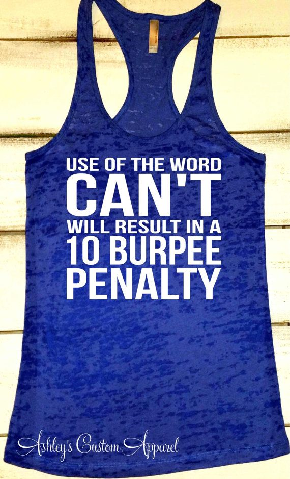 Personal Trainer Tank - Fitness Motivation - Workout Tank - Inspirational Tank - Burpees Tank - Funny Workout Tank - Custom - Womens Fitness   by AshleysCustomApparel