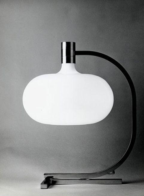 design-is-fine:  Franco Albini & Franca Helg, table lamp AS1C, 1969. Made forSirrah. Via abitare.it