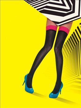 The Colured Top Opaque Hold ups from Pretty polly