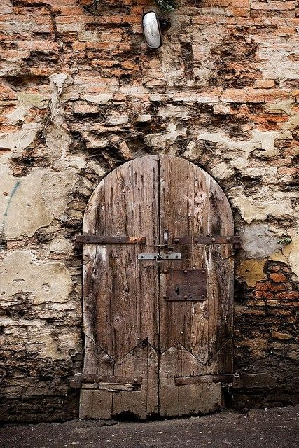 .weathered door in a crumbling wall... beautiful
