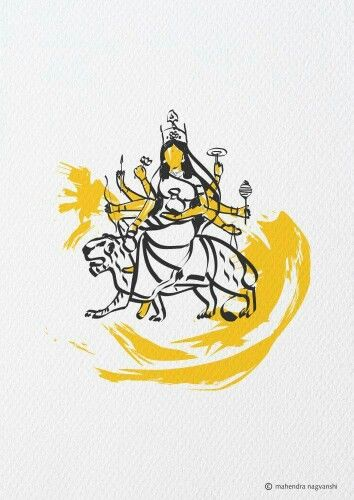 Kushmanda 4th Swaroop of Durga Out of 9 Swaroop by Artist Mahendra Nagvanshi