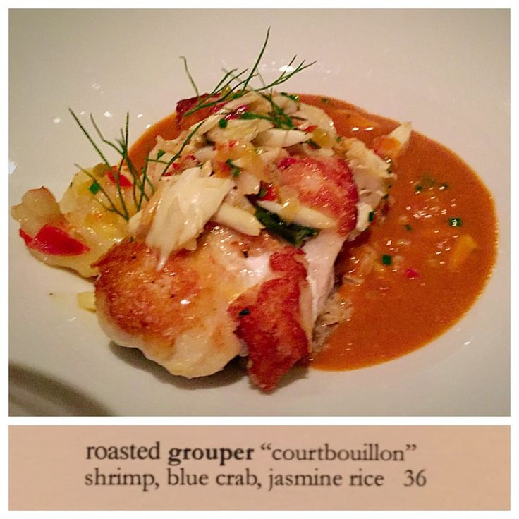 Photo of Restaurant August - New Orleans, LA, United States. Roasted grouper courtbouillon