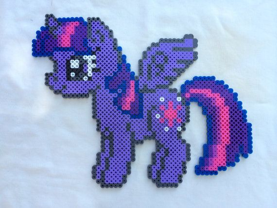 Twilight Sparkle - My Little Pony Friendship is Magic perler beads by PrettyPixelations
