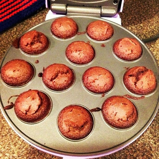 More brownie bites in the cake pop maker. These are good right out of the maker, they are REALLY good the next day.