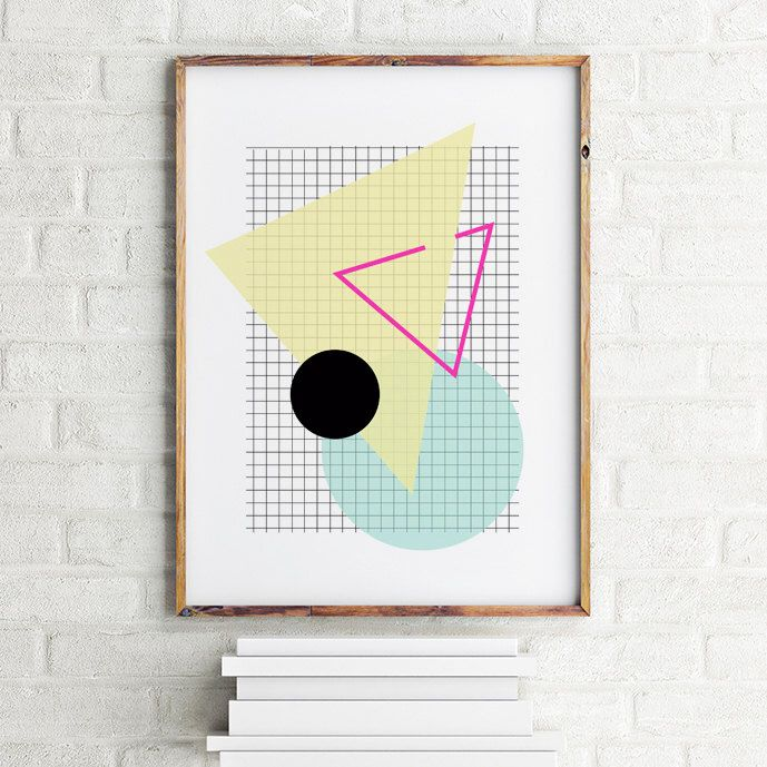 A personal favorite from my Etsy shop https://www.etsy.com/listing/244837154/geometric-art-print-poster-grid-and