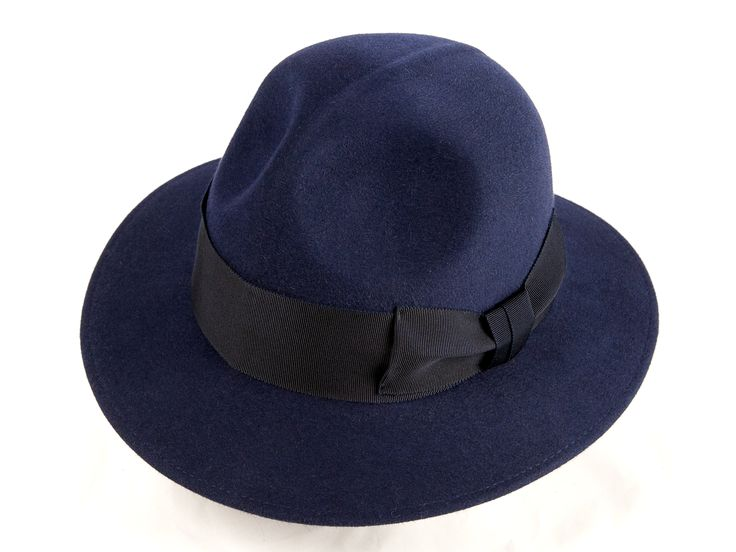 This is the exclusive PANIZZA 1879 Hat called TASSO Felt Blue Hat. The hat is made of 100% rabbit felt and it is top quality; therefore it can be use both during spring and autumn.  shop it NOW at http://finaest.com/designers/panizza-1879/tasso-felt-blue-hat
