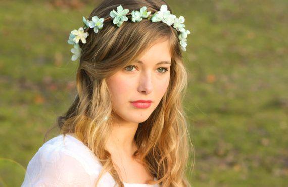 accessoires de mariage couronne de fleur mariée par serenitycrystal