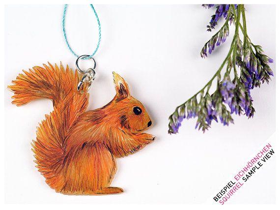 Necklace SQUIRREL Eichhörnchen Kette Schmuck Jewelry squirrel necklace forest animal EtsyDST