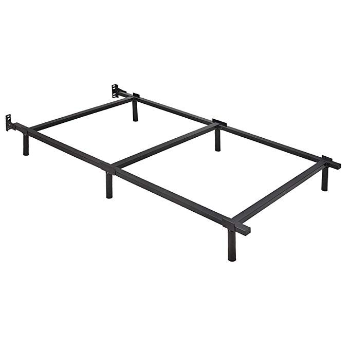 Ziyoo 7 Inch Adjustable Metal Bed Frame Base For Box Spring Twin