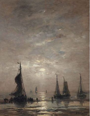 Hendrik Willem Mesdag (Dutch, 1831–1915) Title: Avondstemming