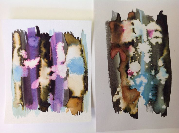Gorgeous ink and bleach experiments