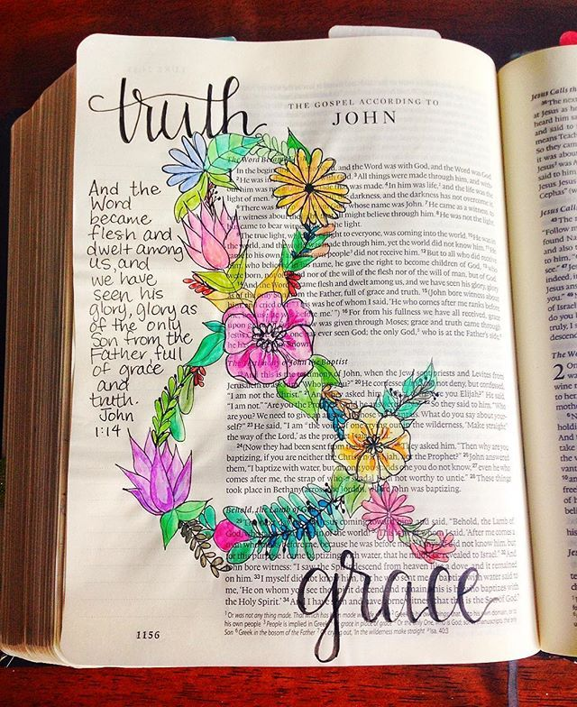 Bible Journaling by Grace Veenker @graceveenker | John 1:14