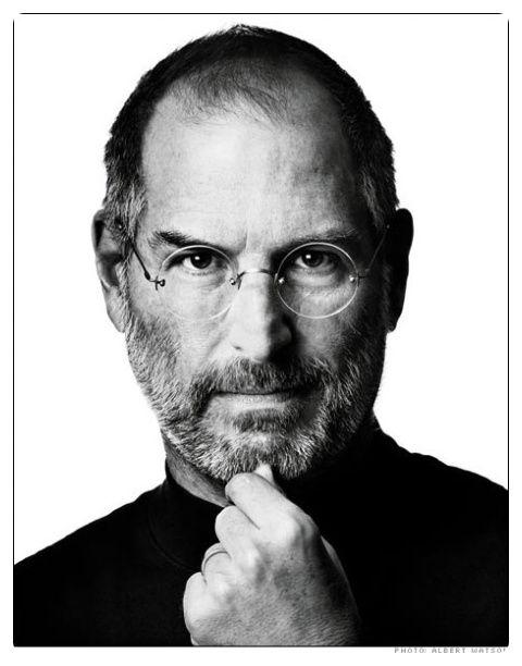 Through black and white. Steve Jobs.
