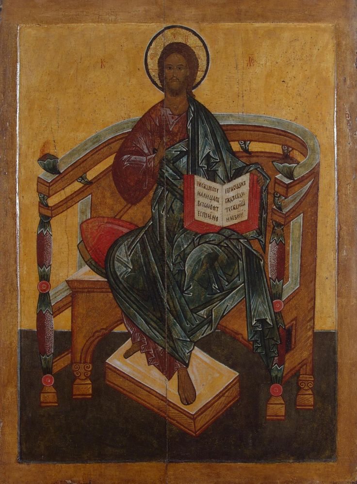 Icon Christ Enthroned Russia, 16th century This Deisis