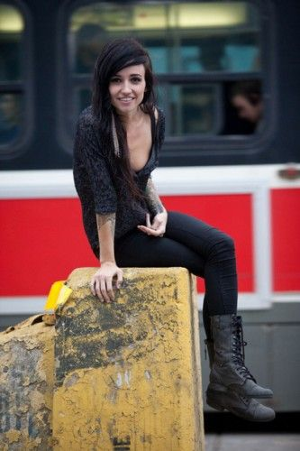 Lights wearing Zorba lace-up military boots //omg i have the same shoes as lights