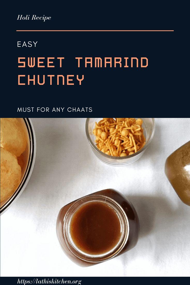 Easy Sweet Tamarind Chutney/Imli Chutney for Chaat - Lathi ...