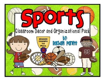 Sport Themed Classroom Decor and Organizational Pack $12.50  sc 1 st  Pinterest & 171 best Sports theme classroom images on Pinterest | Sports theme ...